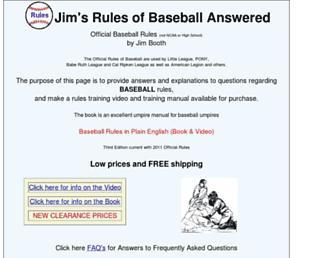 baseball-rules.com screenshot
