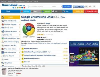 Main page screenshot of download.com.vn
