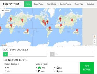 costtotravel.com screenshot