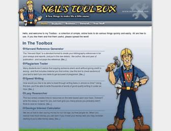 Thumbshot of Neilstoolbox.com