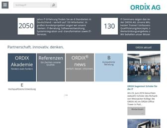 Main page screenshot of ordix.de