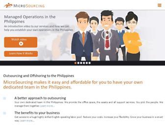 microsourcing.com screenshot