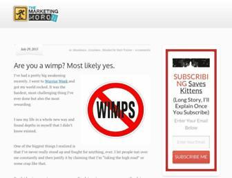 Fullscreen thumbnail of themarketingmoron.com