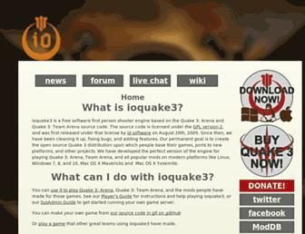 Thumbshot of Ioquake3.org