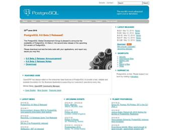 postgresql.org screenshot