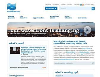 waterfrontoronto.ca screenshot