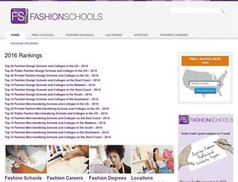 fashion-schools.org screenshot