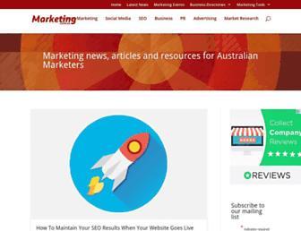 marketing.com.au screenshot