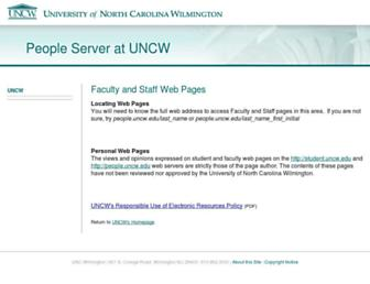 people.uncw.edu screenshot