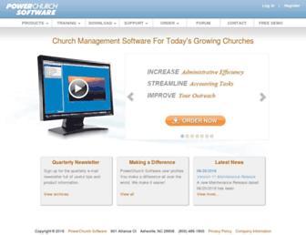 powerchurch.com screenshot