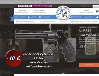armurerie-auxerre.com screenshot