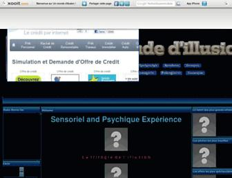 Main page screenshot of illusions-optique.xooit.fr
