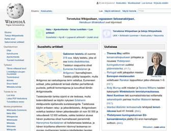 fi.wikipedia.org screenshot