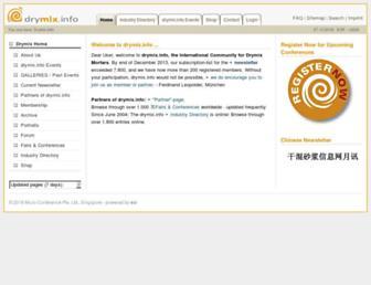Main page screenshot of drymix.info