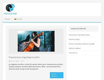 Main page screenshot of feelsound.lt