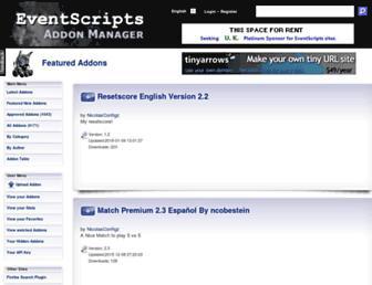addons.eventscripts.com screenshot