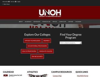 unoh.edu screenshot