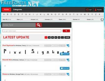 freefontsdownload.net screenshot