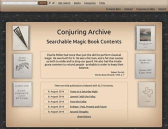 conjuringarchive.com screenshot