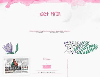 getmidi.blogspot.com screenshot