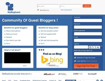 Thumbshot of Myblogguest.com