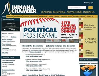 indianachamber.com screenshot