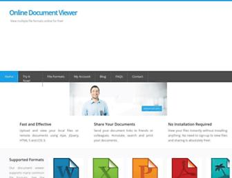onlinedocumentviewer.com screenshot