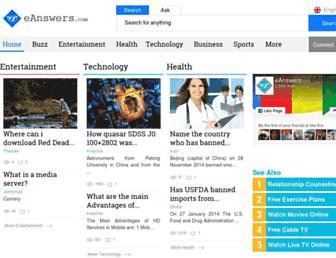Thumbshot of Eanswers.com