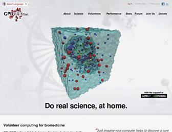 Main page screenshot of gpugrid.net