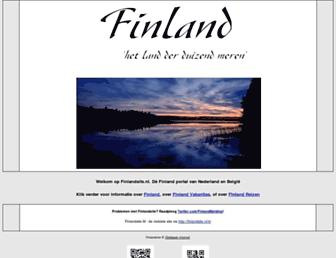 Main page screenshot of finlandsite.nl