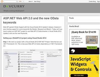 devcurry.com screenshot