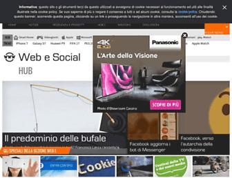 Main page screenshot of oneweb20.it
