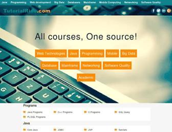 tutorialride.com screenshot