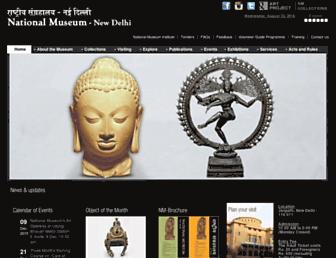 nationalmuseumindia.gov.in screenshot
