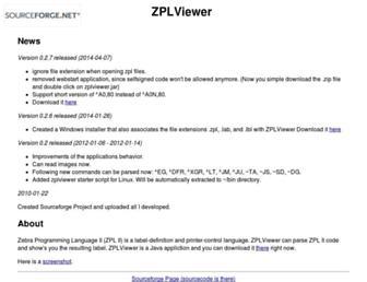 zplviewer.sourceforge.net screenshot