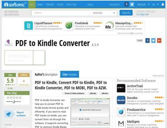 pdf-to-kindle-converter.en.softonic.com screenshot