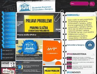 Main page screenshot of spus.ba