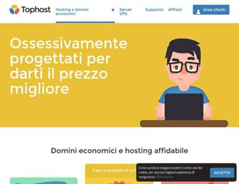 Main page screenshot of tophost.it