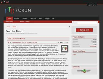 forum.feed-the-beast.com screenshot