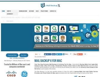 mailbackupx.com screenshot