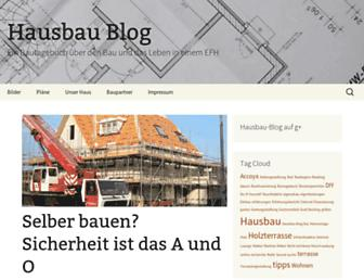 Main page screenshot of hausbau-blog.org