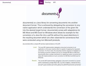 documents4j.com screenshot