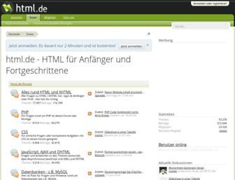 html.de screenshot