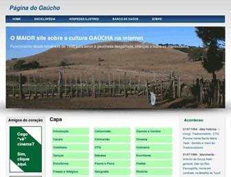 paginadogaucho.com.br screenshot