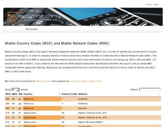 mcc-mnc.com screenshot