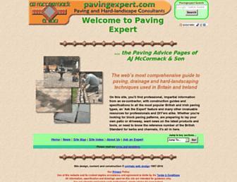 pavingexpert.com screenshot