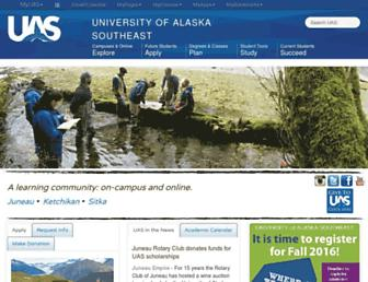 uas.alaska.edu screenshot