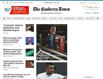 Thumbshot of Canberratimes.com.au