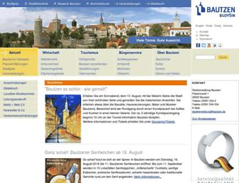 Main page screenshot of bautzen.de