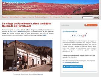 argentine-info.com screenshot